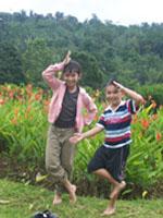 Aya dan Kiya di Agro Wisata Bagus