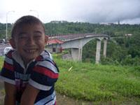 Kiya di Jembatan Tukad Badung