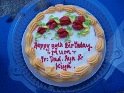 Mum Birthday - Cake